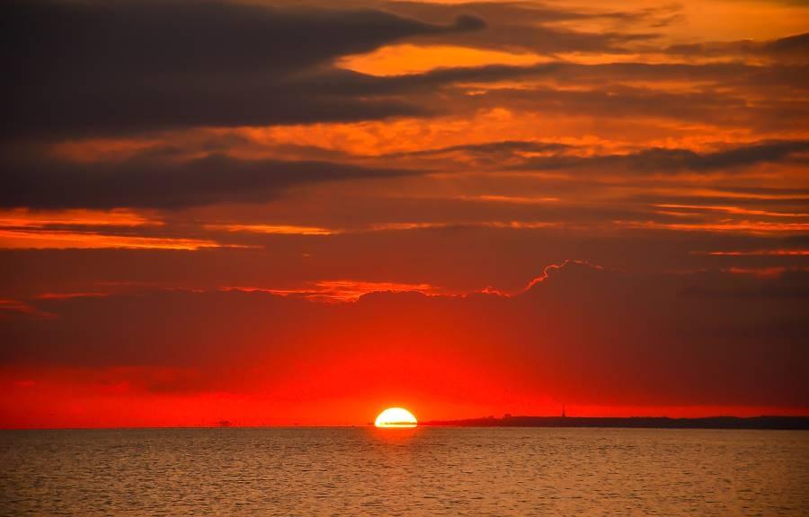 Rote Färbung Des Himmels